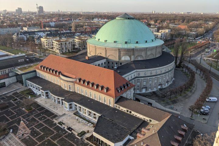 Blick auf das HCC Congress Centrum Hannover