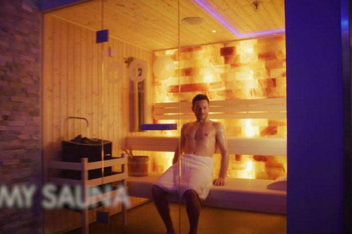 Sauna-Kabine im MyWellness Berlin Wilmersdorf